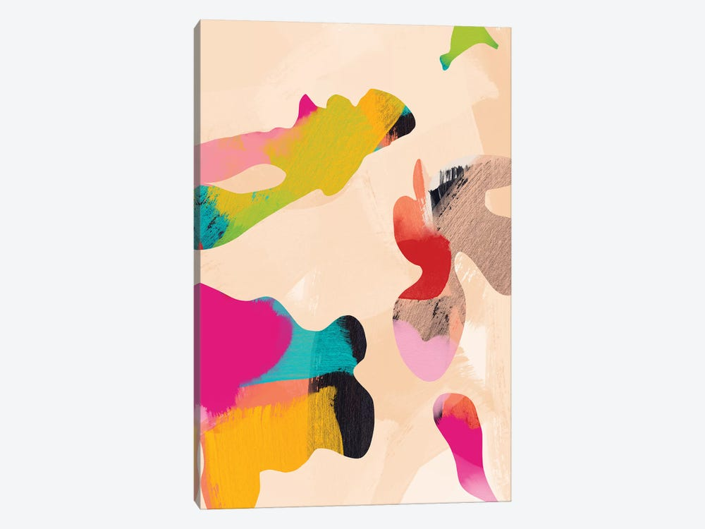 Abstract Bright Color Modern by Ana Rut Bré 1-piece Canvas Art Print