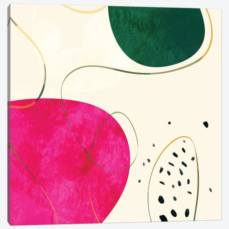 Minimal Pink Shape Canvas Print #RTB52} by Ana Rut Bré Canvas Artwork