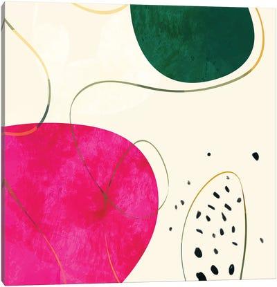 Minimal Pink Shape Canvas Art Print