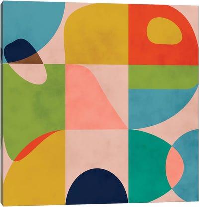 Modern Mid Century Spring Canvas Art Print