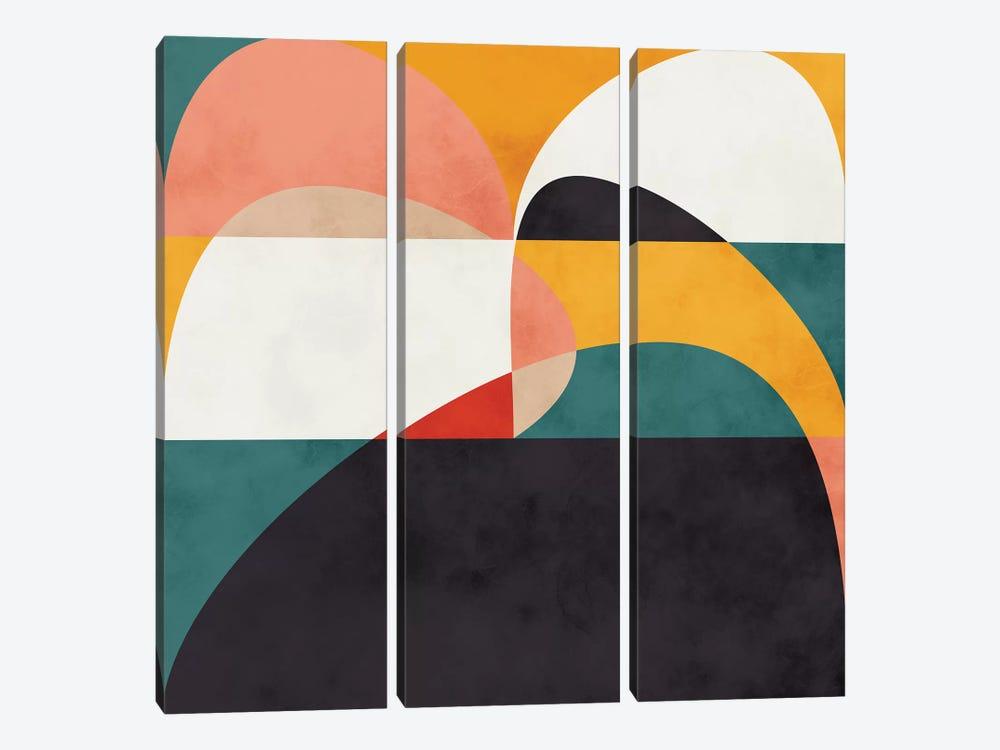 Modern Shapes VI by Ana Rut Bré 3-piece Art Print