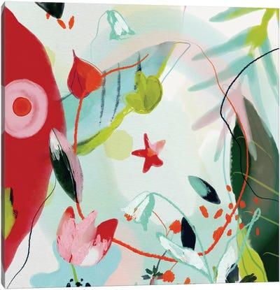 My Summer Garden Square Canvas Art Print