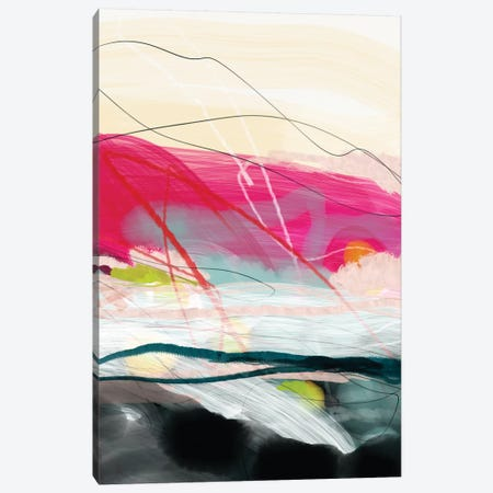 Abstract Landscape Pink Sky Canvas Print #RTB5} by Ana Rut Bré Canvas Art