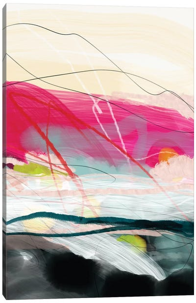 Abstract Landscape Pink Sky Canvas Art Print