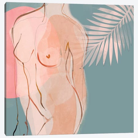 Nude Minimal Canvas Print #RTB62} by Ana Rut Bré Canvas Print