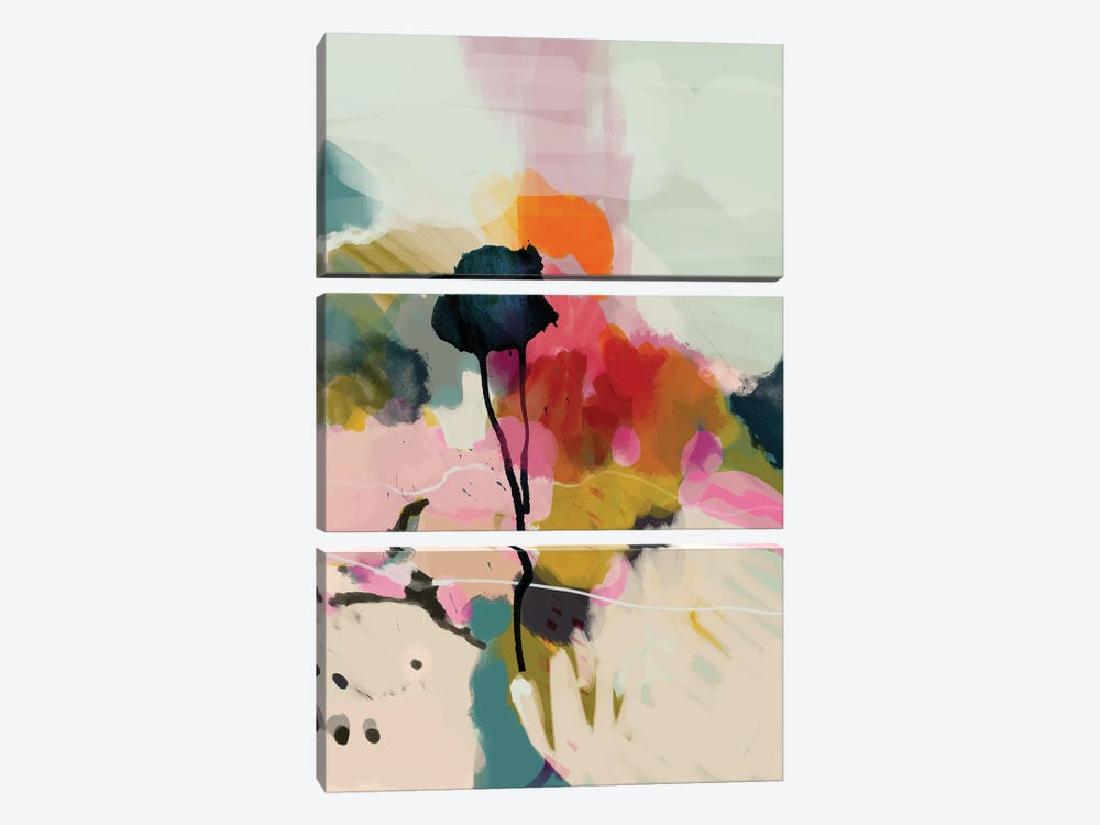 Paysage Abstract by Ana Rut Bré 3-piece Canvas Print
