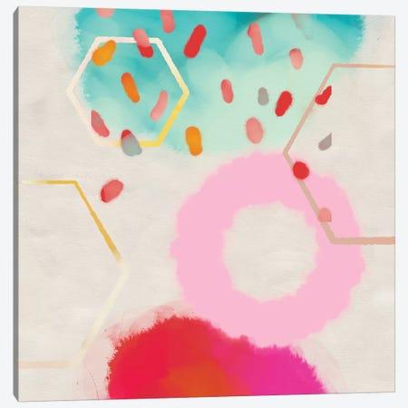 Pink Circle 3-Piece Canvas #RTB64} by Ana Rut Bré Canvas Artwork
