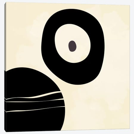 Shapes Black Brush Stroke White Abstract Canvas Print #RTB69} by Ana Rut Bré Art Print