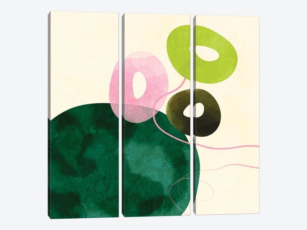 Abstract Minimal Art by Ana Rut Bré 3-piece Canvas Print