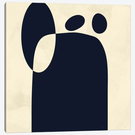 Shapes Black Minmal Abstract Canvas Print #RTB70} by Ana Rut Bré Canvas Artwork