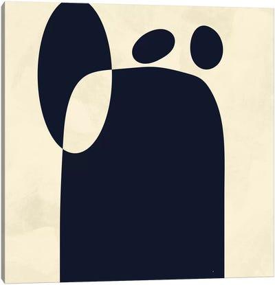 Shapes Black Minmal Abstract Canvas Art Print