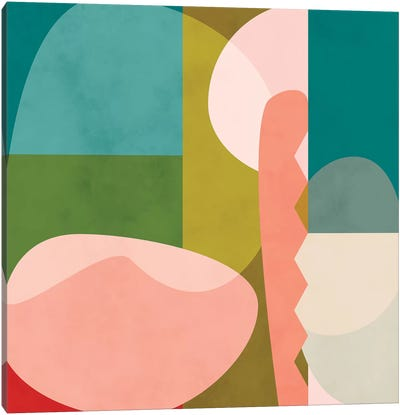 Shapes Geometric Art Mid Century I Canvas Art Print