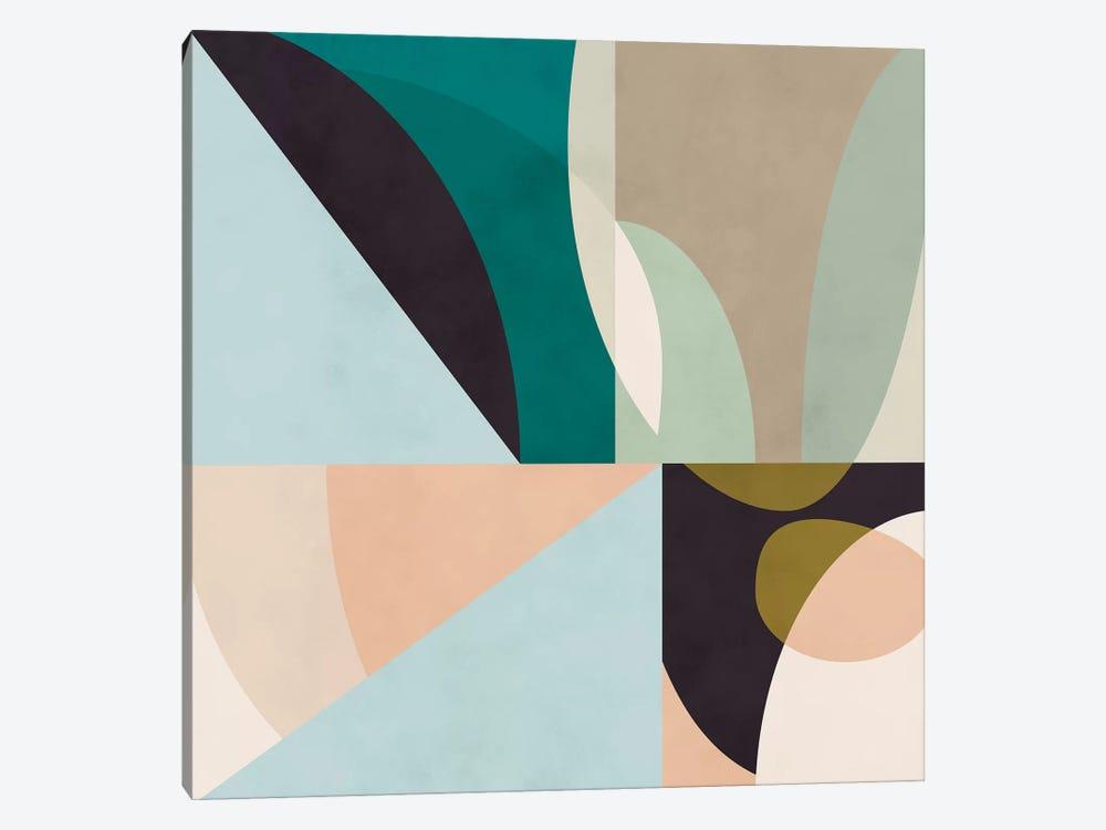 Shapes Geometric Art Mid Century II by Ana Rut Bré 1-piece Art Print