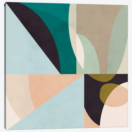 Shapes Geometric Art Mid Century II Canvas Print #RTB72} by Ana Rut Bré Canvas Wall Art