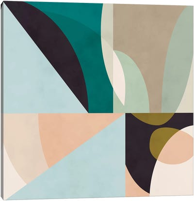 Shapes Geometric Art Mid Century II Canvas Art Print