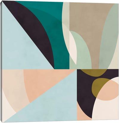 Shapes Geometric Art Mid Century II Canvas Art Print