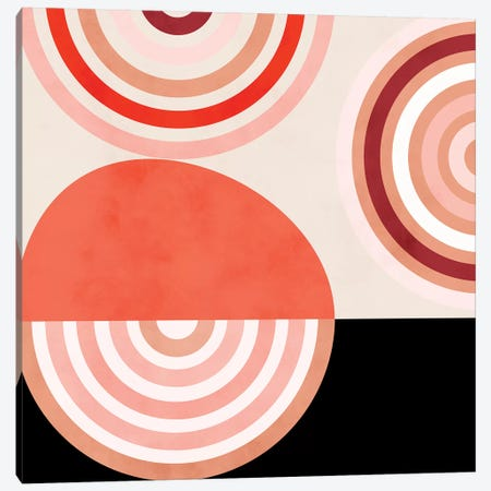 Shapes Modern Mid Century Abstract Canvas Print #RTB73} by Ana Rut Bré Canvas Art