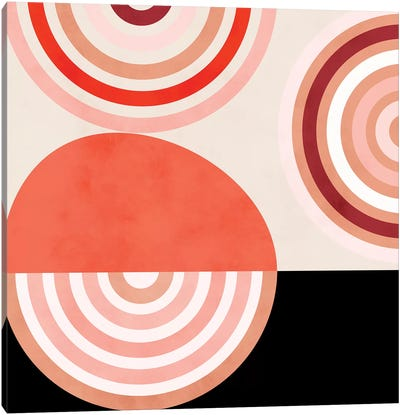 Shapes Modern Mid Century Abstract Canvas Art Print