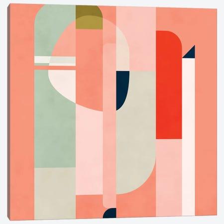 Shapes Modern Peach Canvas Print #RTB74} by Ana Rut Bré Art Print