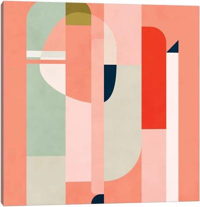 Shapes Modern Peach Canvas Art Print