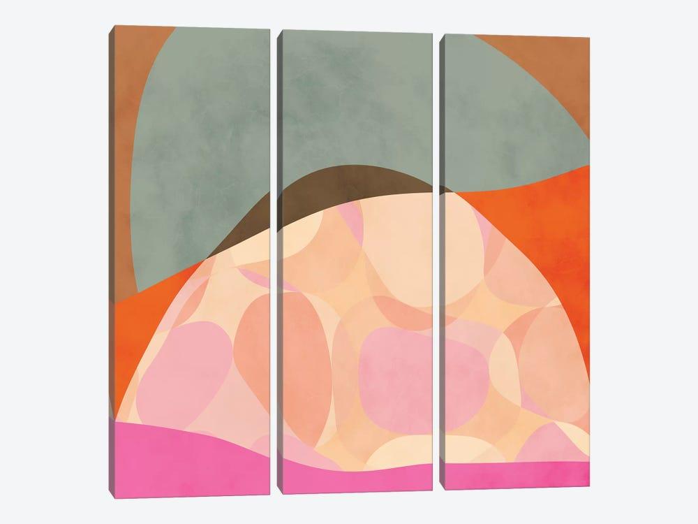 Shapes Study Tartaruga by Ana Rut Bré 3-piece Canvas Art