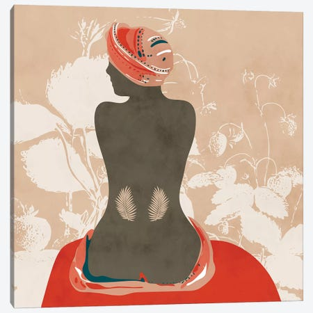 Woman With Leaves Canvas Print #RTB92} by Ana Rut Bré Canvas Artwork