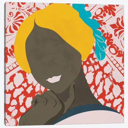 Woman With Pattern Canvas Print #RTB93} by Ana Rut Bré Canvas Artwork