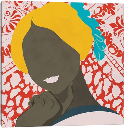 Woman With Pattern Canvas Art Print