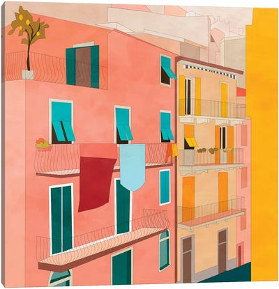 Italy Streetview Canvas Art Print