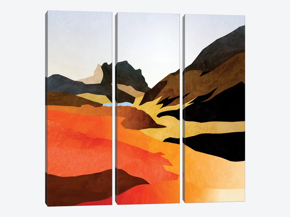 Mountains Landscape Abstract by Ana Rut Bré 3-piece Canvas Art