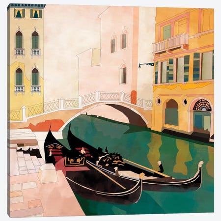 Venice Gondolas I Canvas Print #RTB98} by Ana Rut Bré Canvas Art