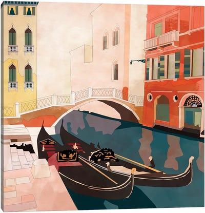 Venice Gondolas II Canvas Art Print