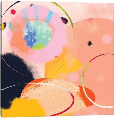 Circles Abstract Canvas Art Print