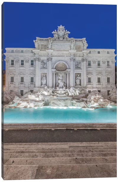 Italy, Rome, Trevi Fountain at dawn Canvas Art Print