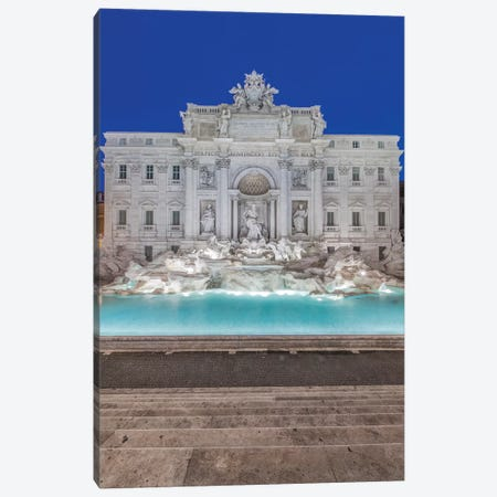 Italy, Rome, Trevi Fountain at dawn Canvas Print #RTI11} by Rob Tilley Canvas Print