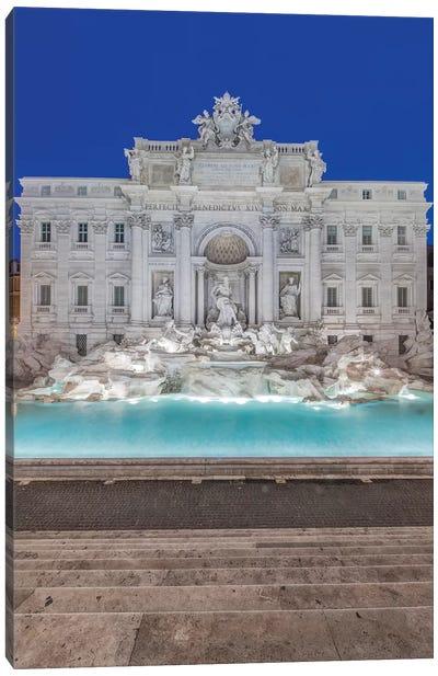 Italy, Rome, Trevi Fountain at dawn Canvas Art Print