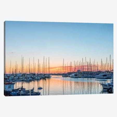 Italy, Sicily, Palermo, Marina sunrise Canvas Print #RTI12} by Rob Tilley Canvas Art Print
