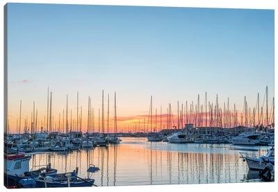 Italy, Sicily, Palermo, Marina sunrise Canvas Art Print