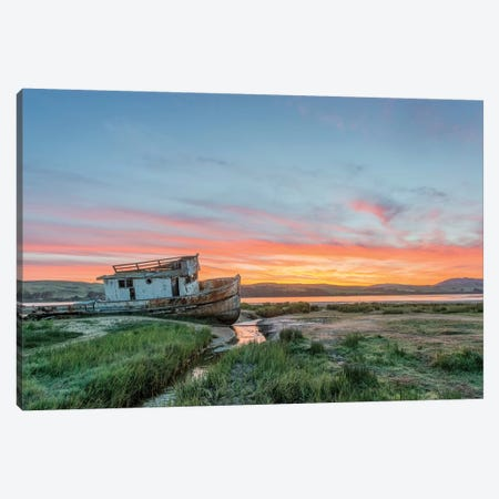 USA, California, Point Reyes National Seashore, Shipwreck sunrise Canvas Print #RTI18} by Rob Tilley Canvas Print