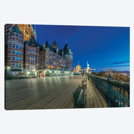 Canada, Quebec, Quebec City, Dufferin Terrace At Dawn.  Canvas Print #RTI22} by Rob Tilley Canvas Wall Art