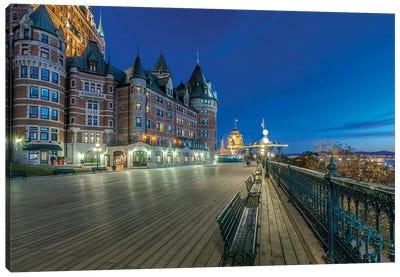 Canada, Quebec, Quebec City, Dufferin Terrace At Dawn.  Canvas Art Print