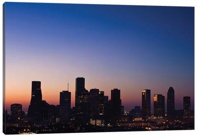 Texas, Houston Skyline At Dawn Canvas Art Print