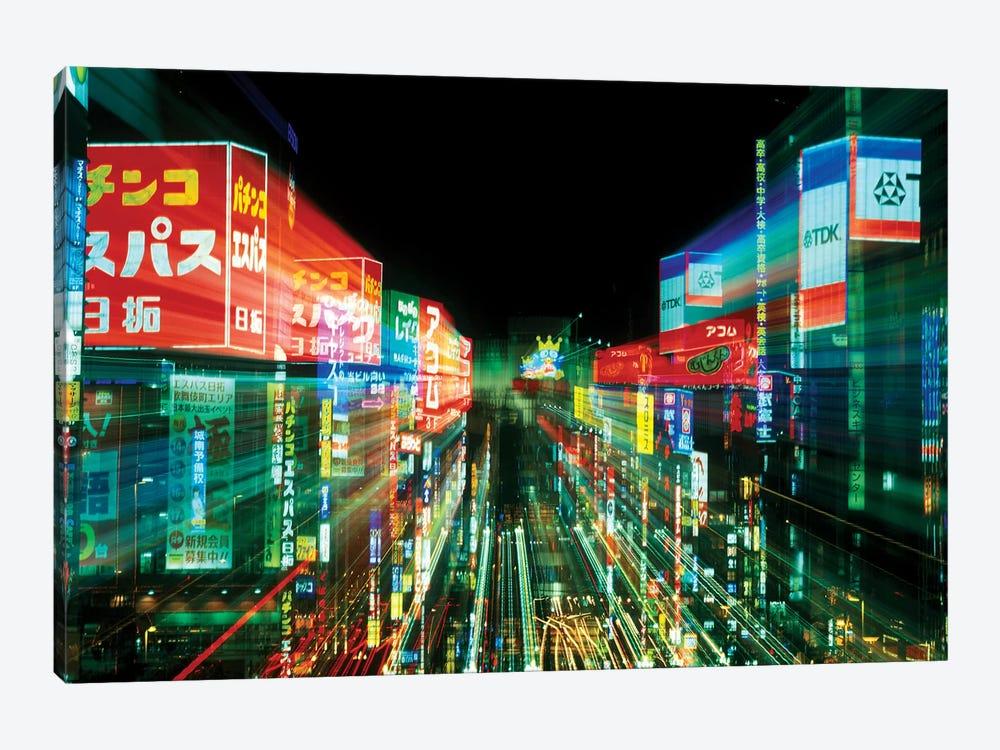 Neon Motion Blur, Shinjuku, Tokyo Prefecture, Japan by Rob Tilley 1-piece Canvas Artwork