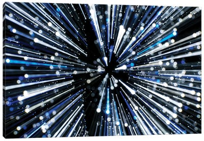 Japan, Tokyo. Roppongi. Christmas lights abstract. Canvas Art Print