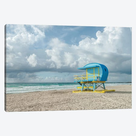 USA, Florida, Miami Beach. Colorful lifeguard station. Canvas Print #RTI36} by Rob Tilley Canvas Art