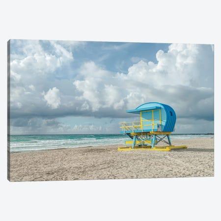 USA, Florida, Miami Beach. Colorful lifeguard station. Canvas Print #RTI36} by Rob Tilley Canvas Art