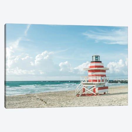 USA, Florida, Miami Beach. Colorful lifeguard station. Canvas Print #RTI37} by Rob Tilley Canvas Artwork