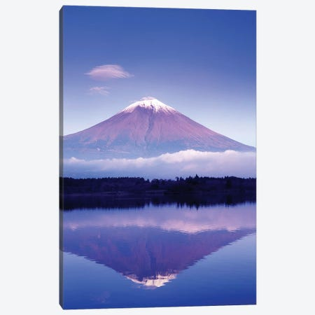 Reflection Of Mount Fuji, Lake Motosu, Yamanashi Prefecture, Japan Canvas Print #RTI4} by Rob Tilley Canvas Art Print