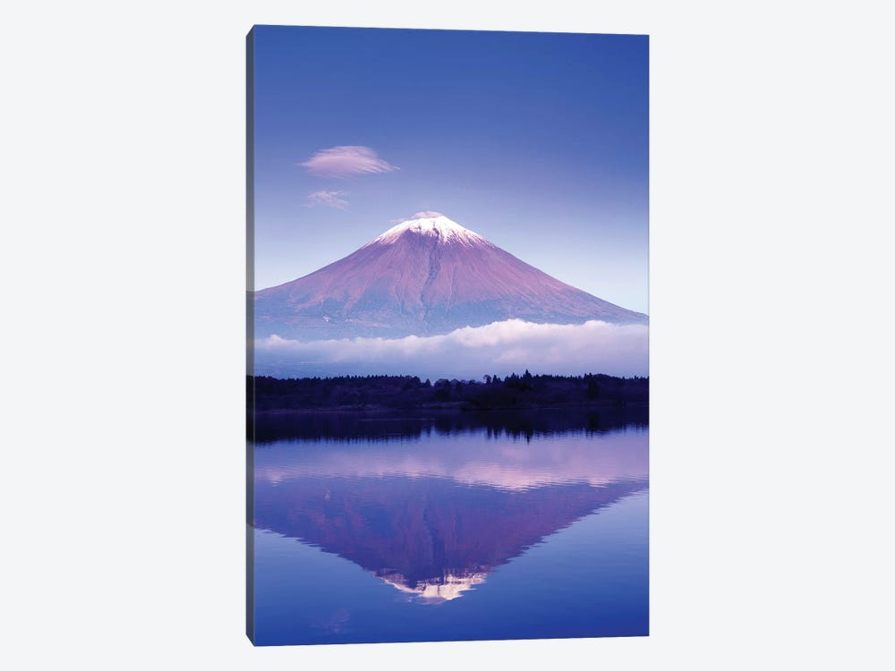 Reflection Of Mount Fuji, Lake Motosu, Yamanashi Prefecture, Japan by Rob Tilley 1-piece Canvas Artwork