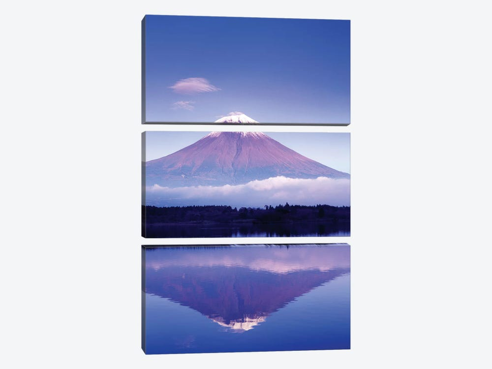 Reflection Of Mount Fuji, Lake Motosu, Yamanashi Prefecture, Japan by Rob Tilley 3-piece Canvas Art